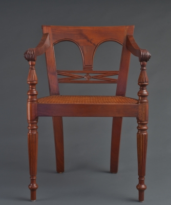 A Set of Eight Raffles Armchairs