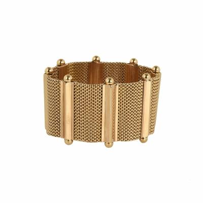 18 Carat Rose Gold Woven Bracelet
