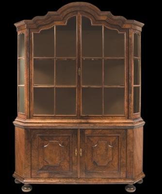 A Dutch Burr Walnut Display Cabinet