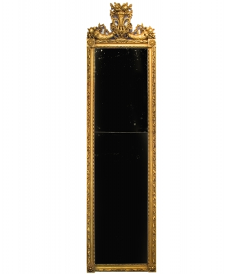 A Louis XVI Giltwood Mirror