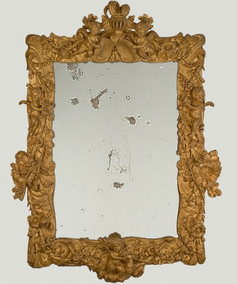 A Baroque Carved Giltwood Mirror