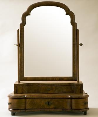 A Wallnut Dressing Table Mirror