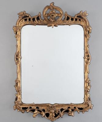A Rectangular Louis XV Guilded Mirror