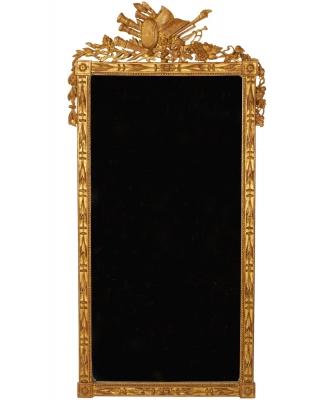 A Rectangular Louis XVI Gilded Mirror