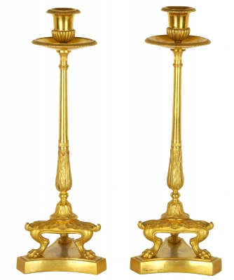 A Pair Empire Candlesticks