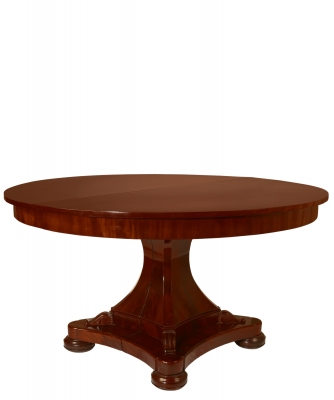 Een Mahoniehouten Empire Coulissetafel