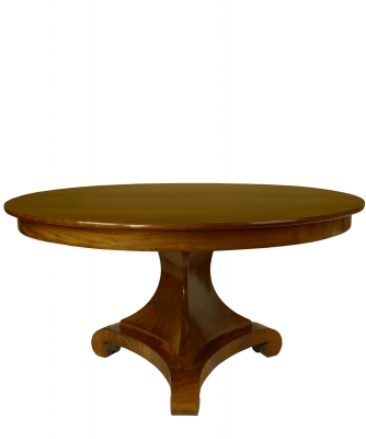 An Empire Mahogany Round and Extendable Table