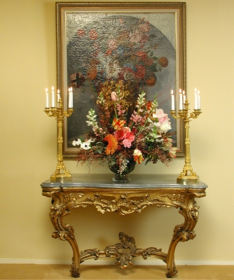 A French Giltwood Console Table