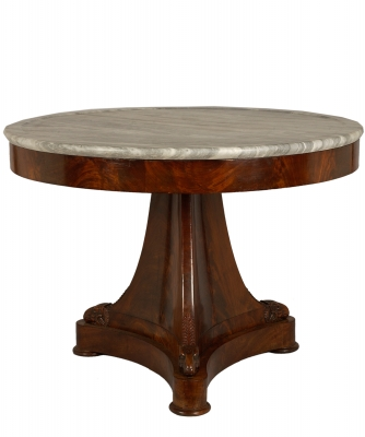 A Mahogany Empire Center Table