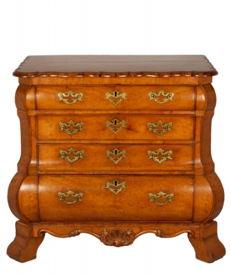 A Louis XV Padouk Commode