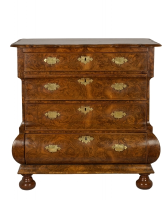 A Burrwalnut Commode
