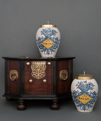 A Dutch Colonial Brass-mounted Teak and Ebonised Chest