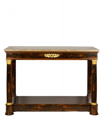 An Empire Mahogany Wall Table