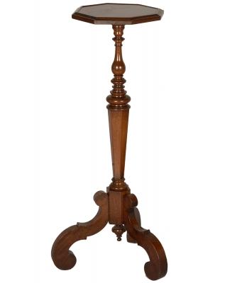 A Wallnut Baroque Pedestal Table