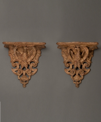 A Pair of French Louis XIV Wall Brackets