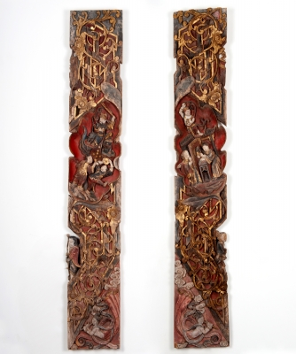 A Pair Chinese Carving Panels