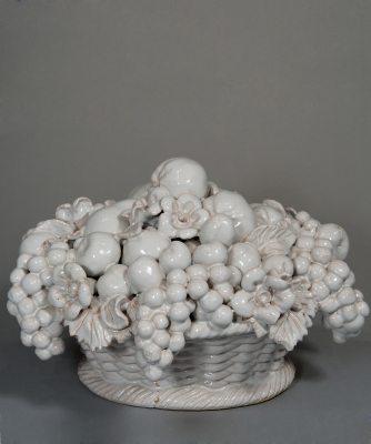 A Very Decorative Fruit-basket in Malicorne Earthenware
