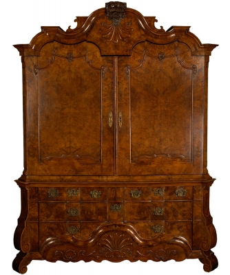 A Burr Walnut Cabinet