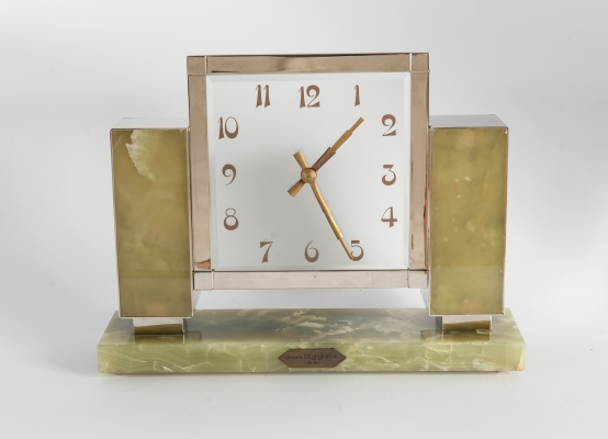 Very Important Exceptional Mystery Art Deco 8th Day Mantel Clock, circa 1931