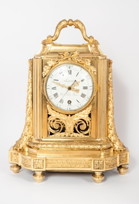 Very Unusual High Quality Early Louis XVI Traveling Clock, circa 1770