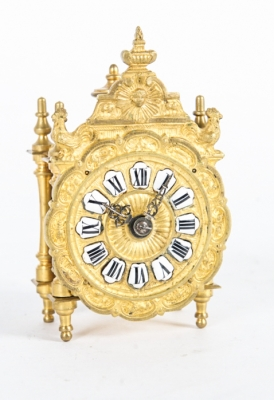 Nice and Small, Charming Miniature Traveling Clock, circa 1890