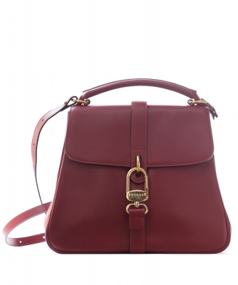 Delvaux Burgundy Leather 'Gin Fizz' Shoulder Bag - Delvaux