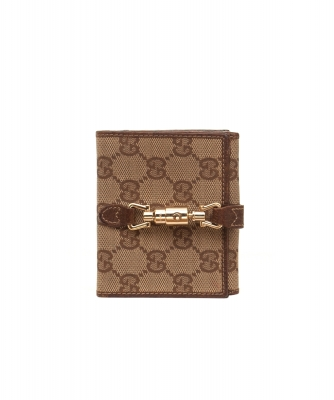Gucci Monogram Piston Lock Compact Wallet - Gucci