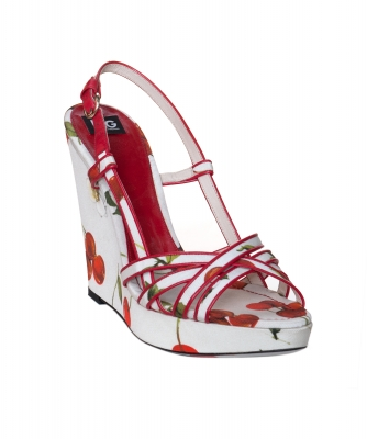 Dolce & Gabbana Cherry Wedge Sandals - Dolce & Gabbana