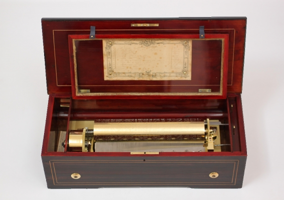 A Swiss 'two per turn' cylinder music box, LeCoultre circa 1860