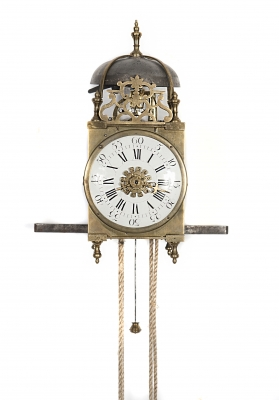 French Miniature Mid-18th Century Louis XV Lantern Timepiece and Alarm Clock