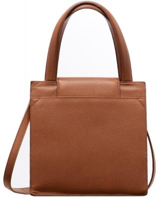 Bvlgari Cognac Leather Handbag