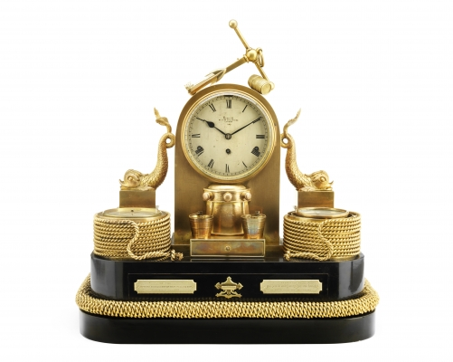 An exceptional 19th century English industrial novelty compendium clock