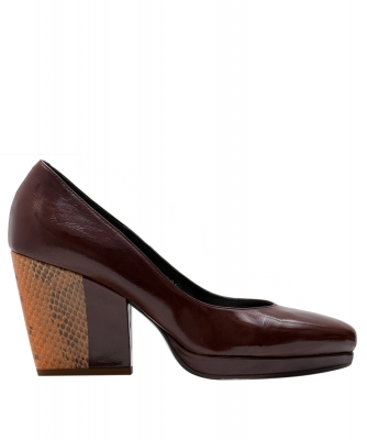 Dries Van Noten Contrast Heel Leather Courts  - Dries van Noten
