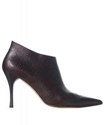 Gucci Brown Leather Booties - Gucci
