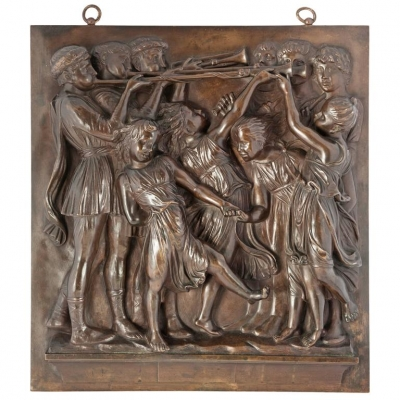 Very Nice Quality High Relief Wall Decoration by Barbedienne a Paris, circa 1880