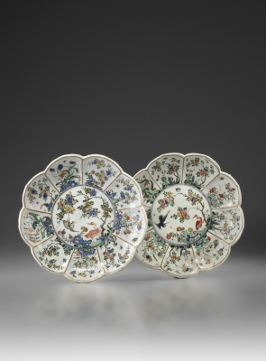 A Pair of 'Johanneum' Famille Verte Dishes