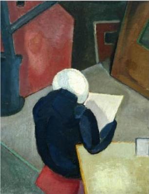 Lizzy lezend - Otto van Rees