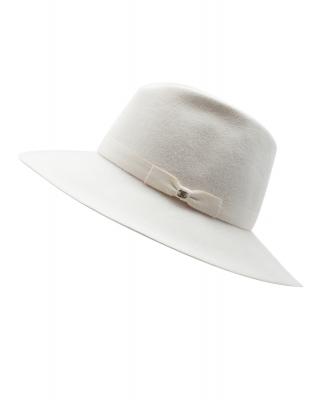 Chanel Off-white Fur Felt Hat - Chanel