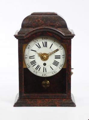 A small Swiss 'Neuchâteloise' alarm wall timepiece, circa 1740