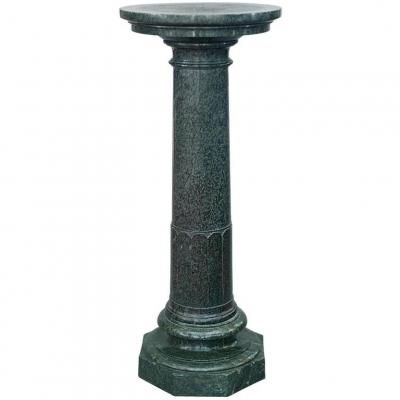 A large Art Nouveau green marble column. Circa 1900.