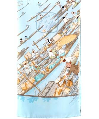 Hermès Carré 'Marché Flottant du Lac Inlé' 1998 - Hermès