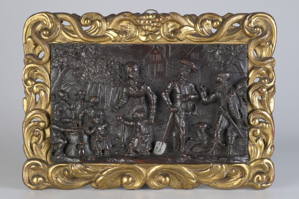 Dutch Renaissance Carved Walnut Relief