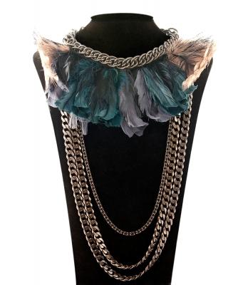 Lanvin Feather Chainlink Necklace
