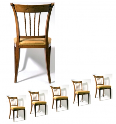A Set of Six Chairs