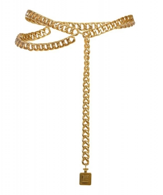 Chanel Perfume Bottle Charm Necklace/Belt