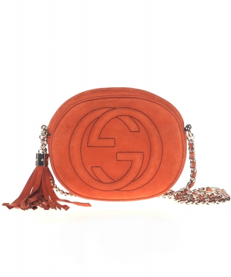 Gucci Brown Suede Soho Mini Chain Bag - Gucci