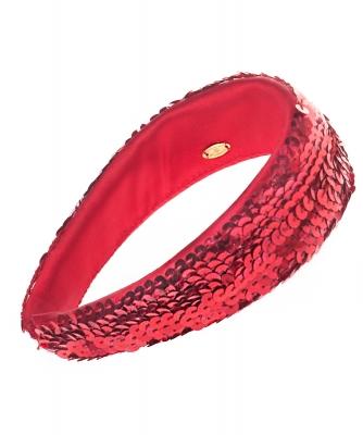 Chanel Red Sequin Headband - Chanel