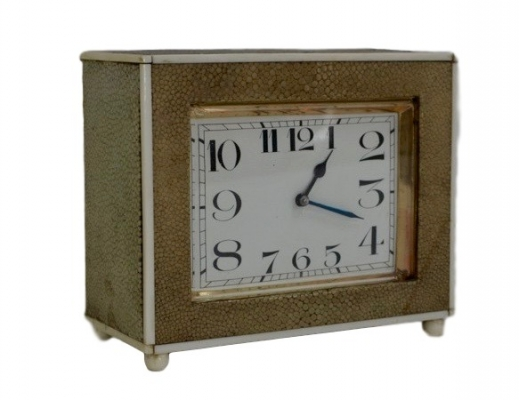 C23 IMPORTANT CLEMENT ROUSSEAU SHAGREEN CLOCK