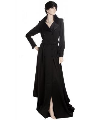 Takada Floor-sweeping Length Tuxedo Trench Coat - Kenzo Takada