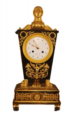 M21 Ormolu and Patinated Bronze Mantel Clock